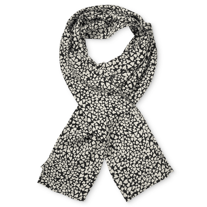 Masai Along Black and Off-White Heart Scarf