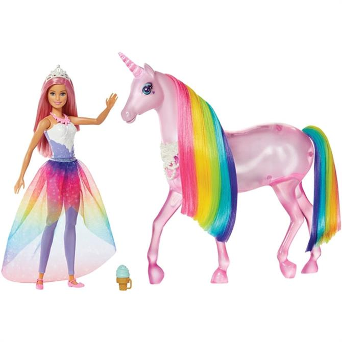 Barbie Dreamtopia Magic Touch Unicorn and Doll