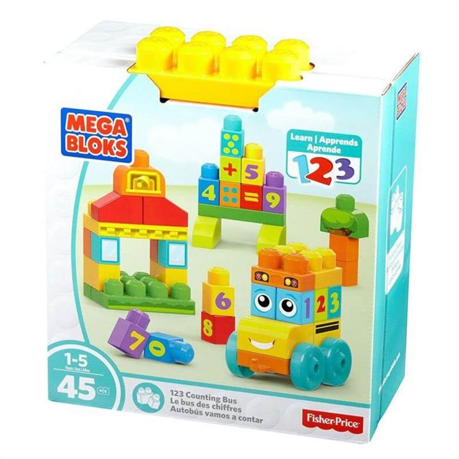 Mega Bloks Building Basics 123 Counting Bus