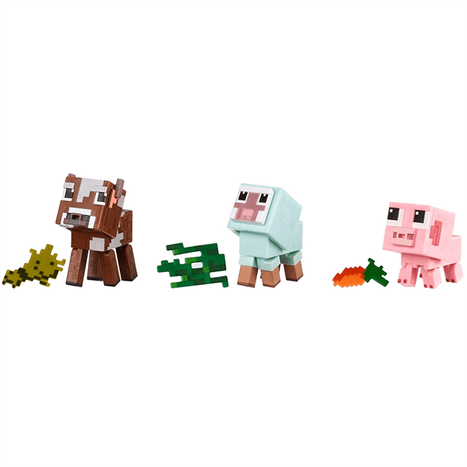 Mattel Minecraft Comic Mode Baby Animal 3 Pack