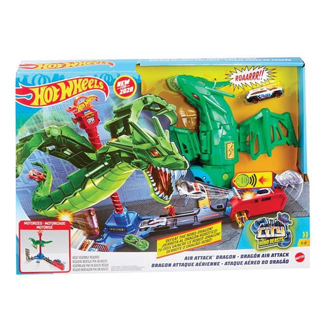 Hot Wheels City Air Attack Dragon Playset