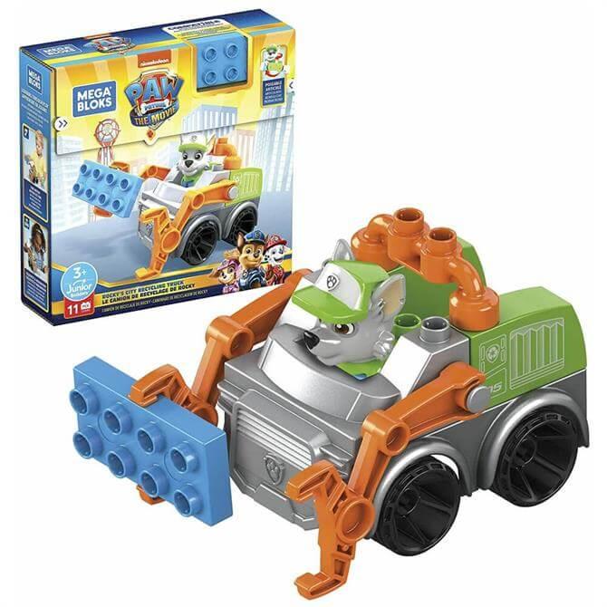 Mega Bloks Paw Patrol The Movie: Rocky's City Recycling Truck Play Set