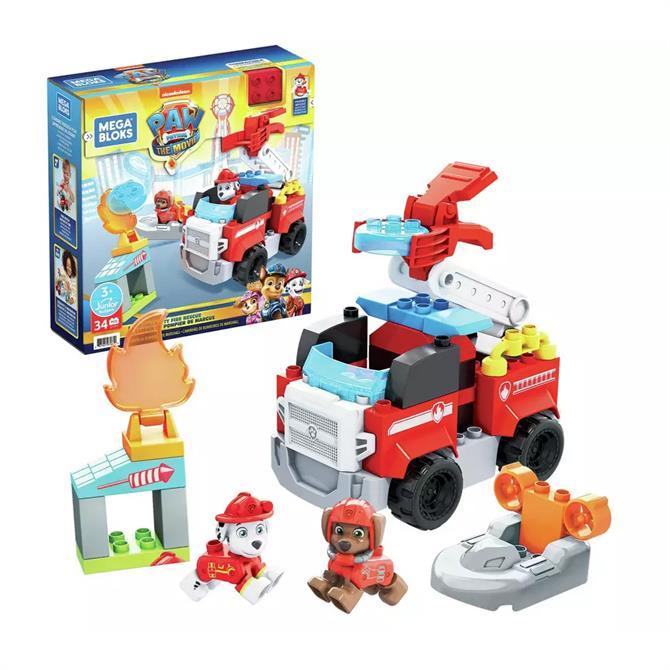 Mega Bloks Paw Patrol: The Movie - Marshall's Fire Rescue Set