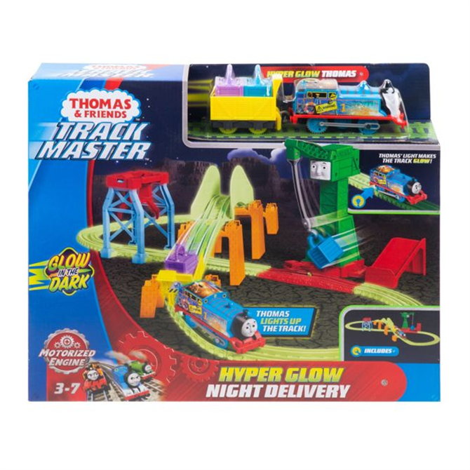 Thomas & Friends TrackMaster Hyper Glow Night Delivery Playset