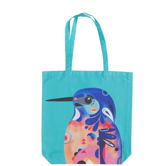 Maxwell & Williams Pete Cromer Azure Kingfisher Shopping Bag
