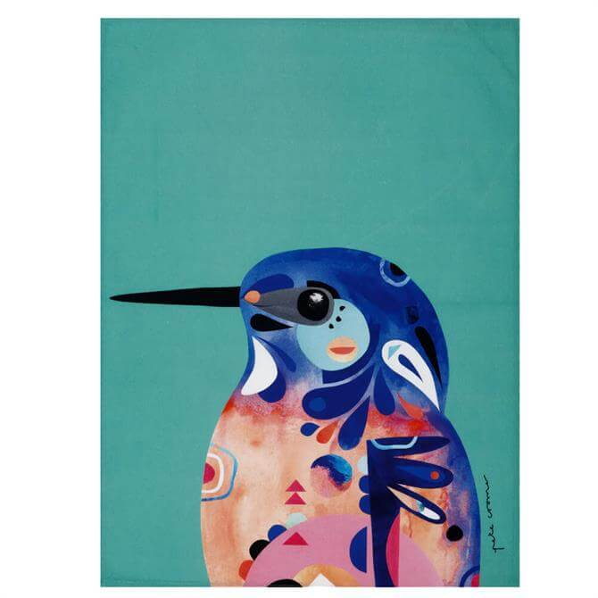Maxwell & Williams Pete Cromer Azure Kingfisher Tea Towel