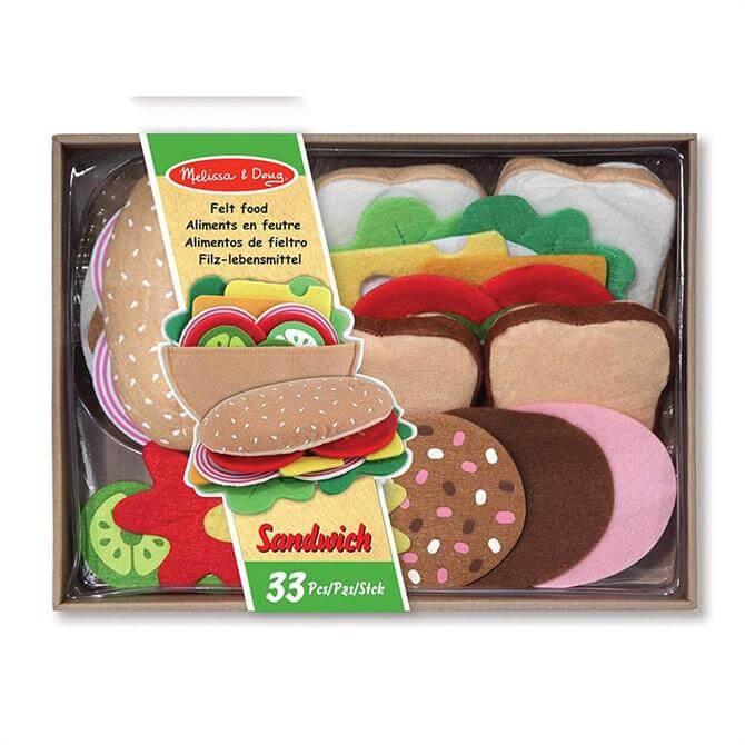 Melissa & Doug Felt Food Sandwich Playset