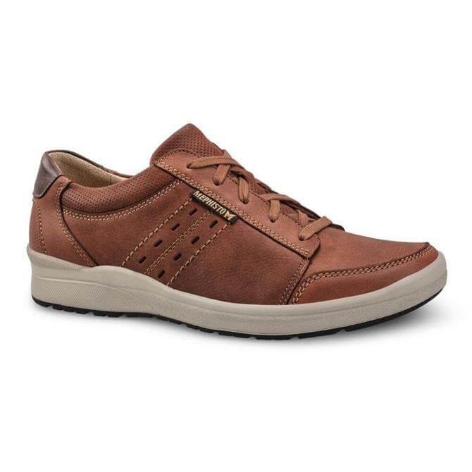 Mephisto Vicente Brown Leather Trainers