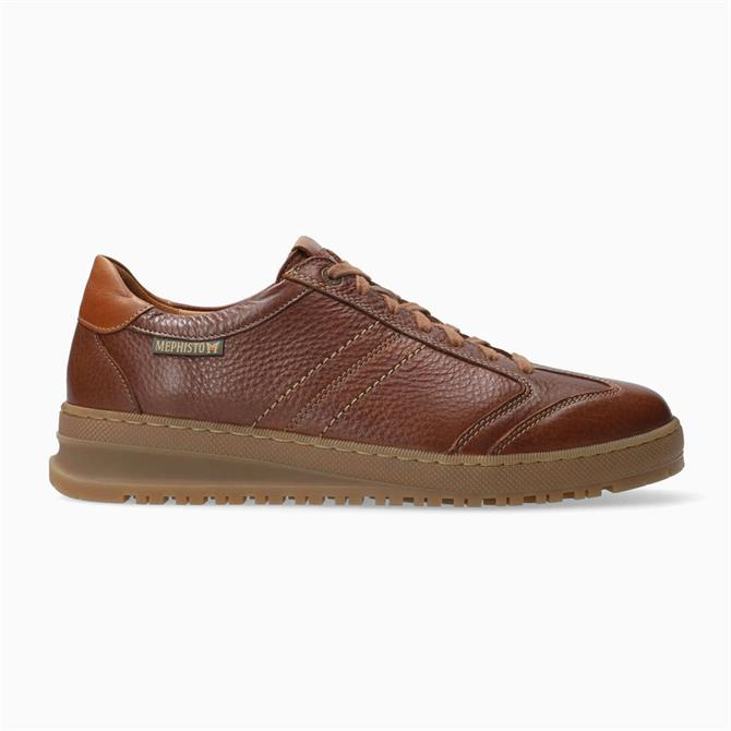 Mephisto Jumper Brown Leather Trainers