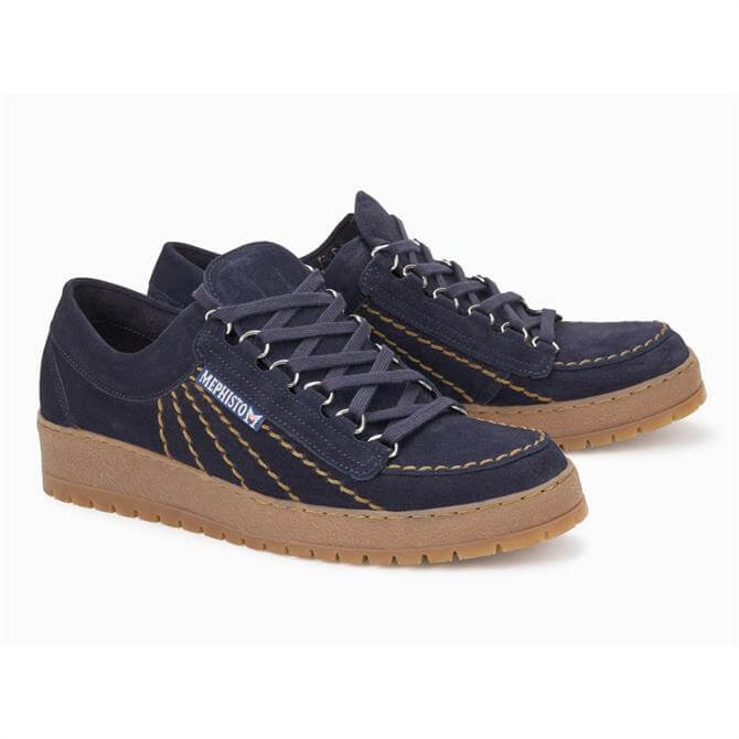 Mephisto Rainbow Suede Lace up Trainers