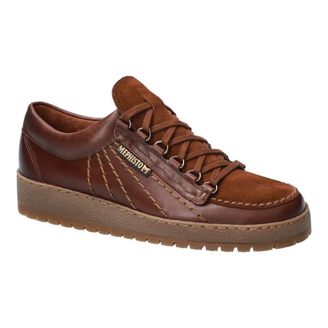 Mephisto Rainbow Sup-Hydro Brown Leather Trainers