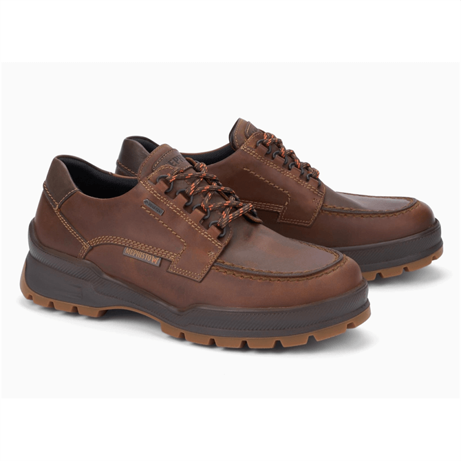 Mephisto Isak GT Lace Up Shoe in Brown Nubuck