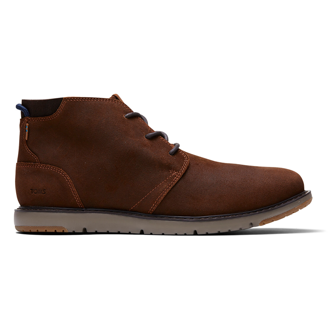 TOMS Brown Leather Navi Boot