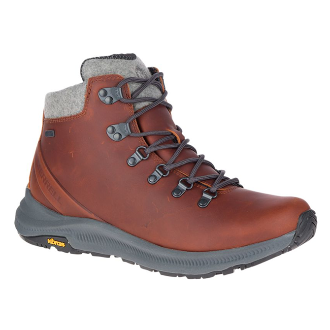 Merrell Ontario Thermo Mid Waterproof Boot in Barley Brown