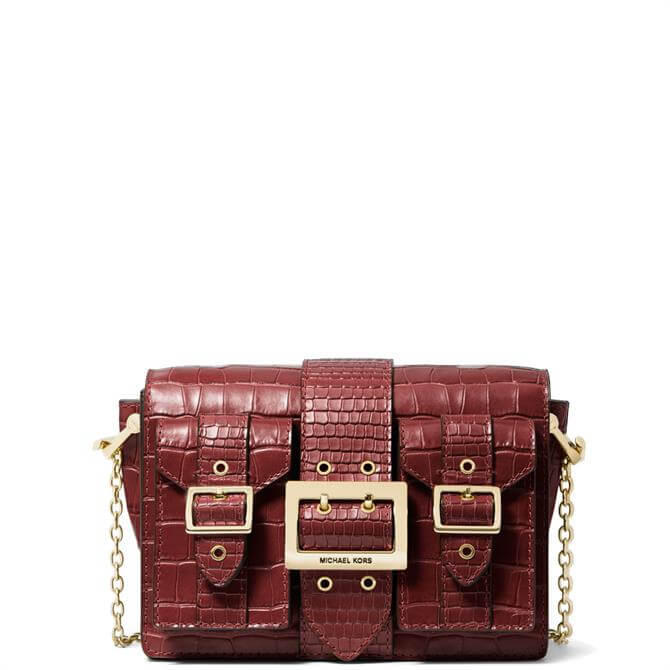 Michael Michael Kors Hayden Medium Crocodile-Embossed Leather Messenger Bag