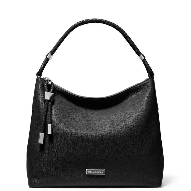 Michael Michael Kors Large Black Pebbled Leather Shoulder Bag