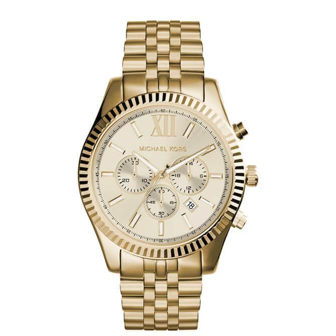 Michael Kors Men's Gold-Tone Lexington Watch