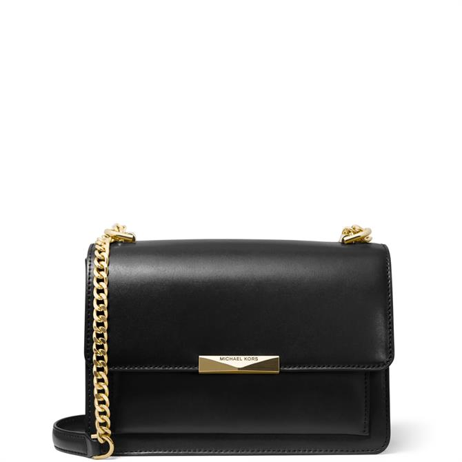 Michael Michael Kors Jade Black Leather Crossbody Bag