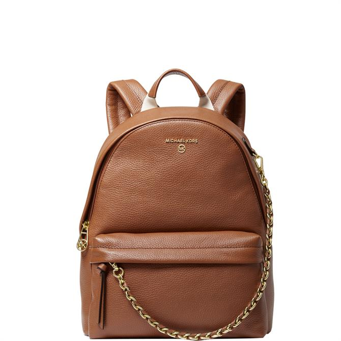 Michael Michael Kors Slater Brown Pebbled Leather Backpack
