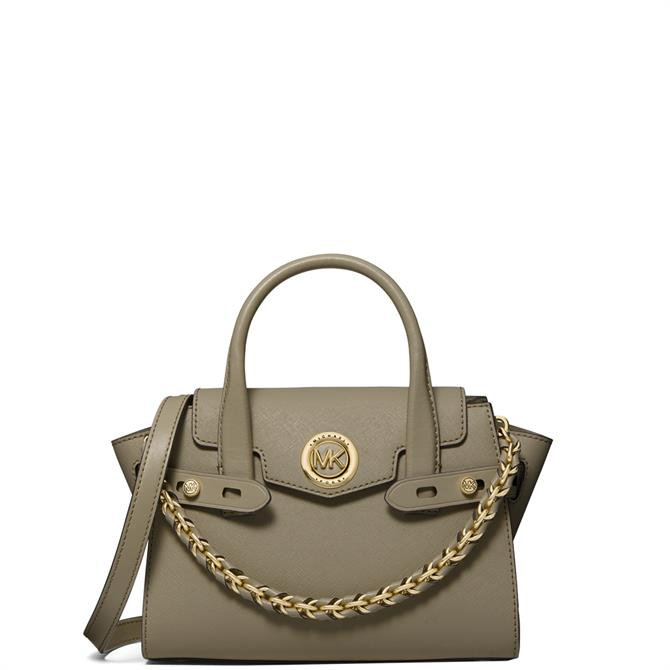Michael Michael Kors Carmen Army Green Extra-Small Saffiano Leather Belted Satchel