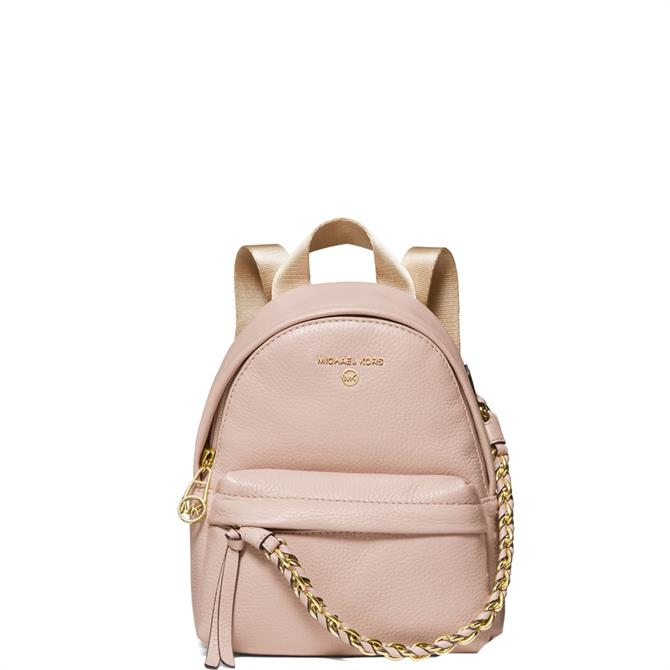 Michael Michael Kors Slater Soft Pink Extra Small Pebbled Leather Convertible Backpack