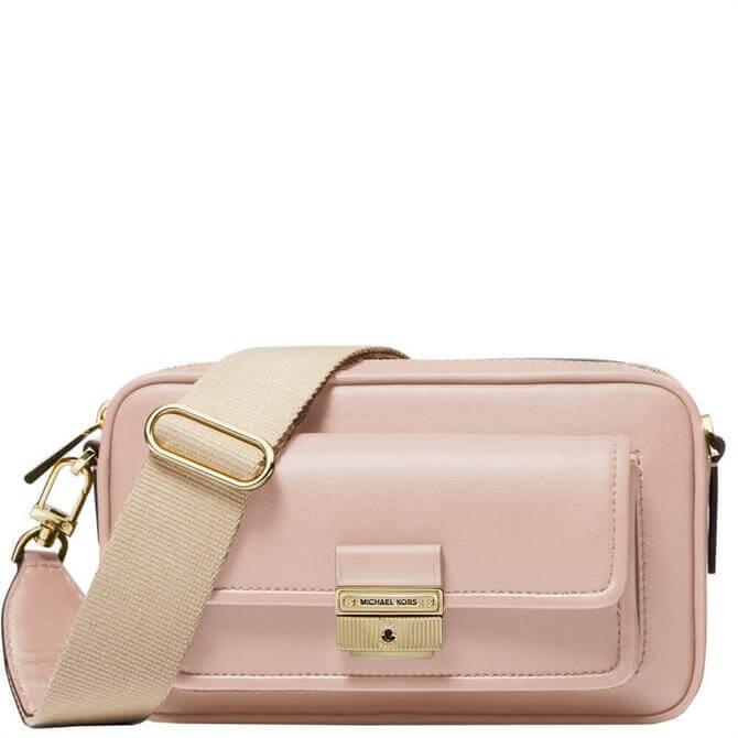 Michael Michael Kors Bradshaw Medium Pink Leather Camera Bag
