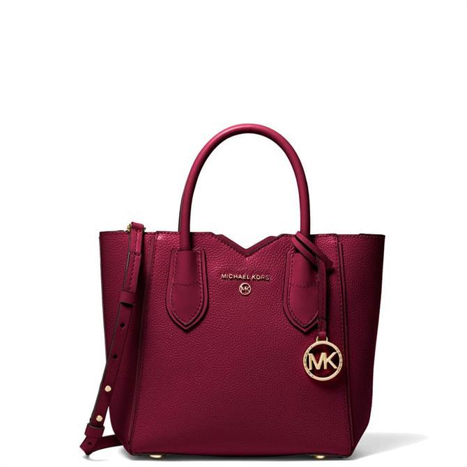 Michael Michael Kors Mae Small Pebbled Leather Messenger Bag