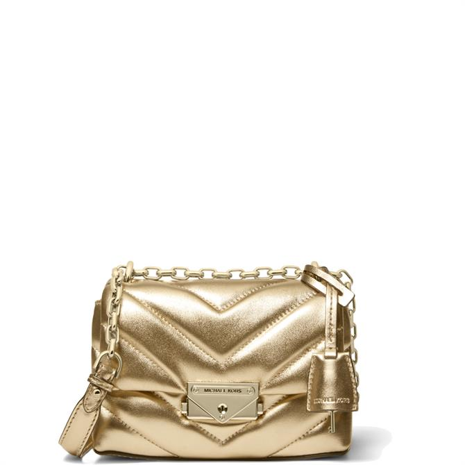 Michael Michael Kors Extra-Small Quilted Metallic Leather Crossbody Bag