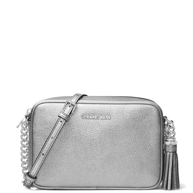 Michael Michael Kors Ginny Metallic Leather Crossbody Bag