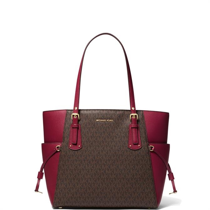Michael Michael Kors Voyager Berry Small Logo Tote Bag