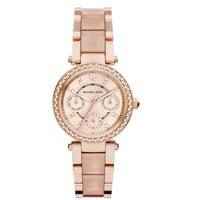 Michael Kors Parker Rose Gold Mini Parker Womens Watch