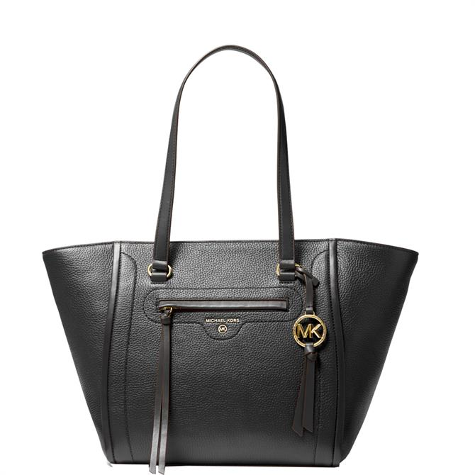 Michael Michael Kors Carine Black Pebbled Leather Tote Bag