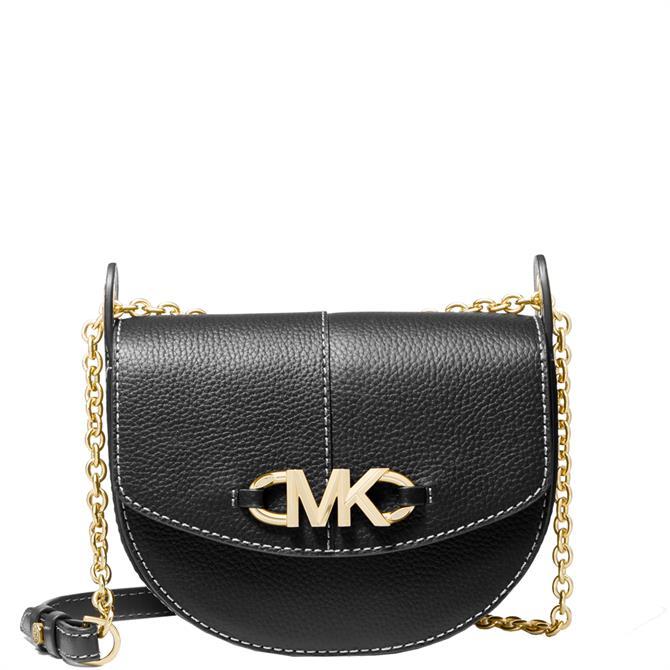 Michael Michael Kors Izzy Small Pebbled Leather Saddle Crossbody Bag