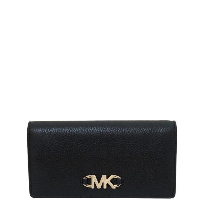 Michael Michael Kors Izzy Large Slim Black Leather Wallet