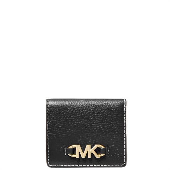 Michael Michael Kors Izzy Small Logo Embellished Pebbled Leather Bilfold Wallet