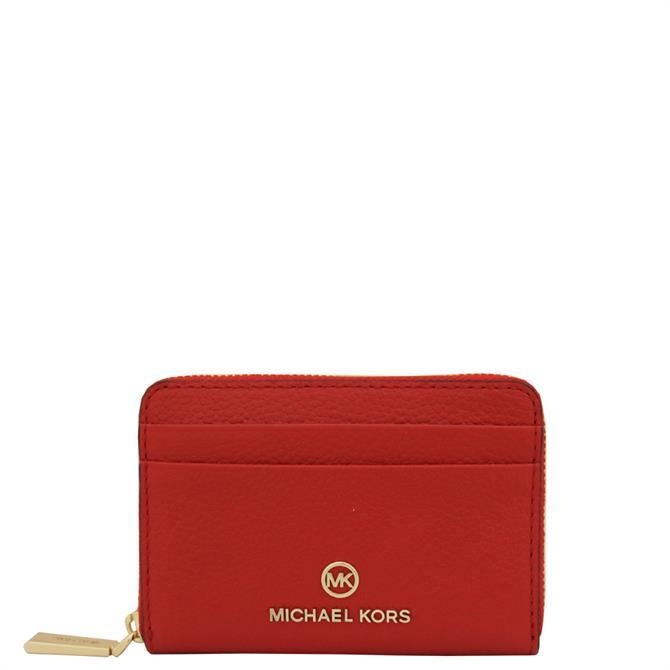 Michael Michael Kors Jet Set Small Pebbled Leather Wallet