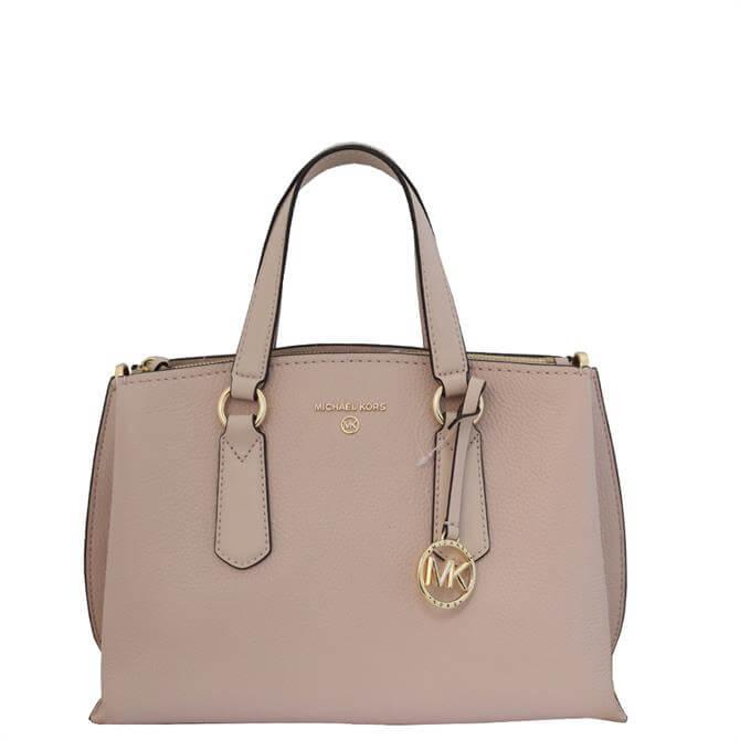 Michael Michael Kors Emma Soft Pink Medium Pebbled Leather Satchel