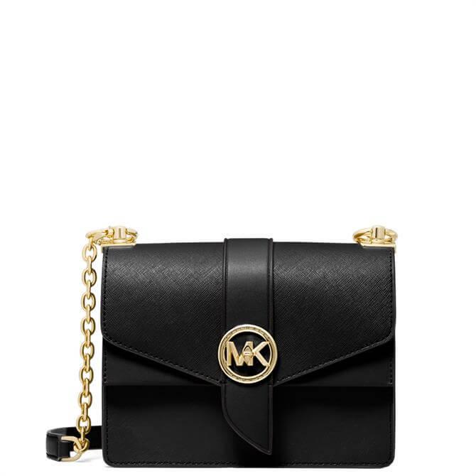 Michael Michael Kors Greenwich Black Small Saffiano Leather Crossbody Bag