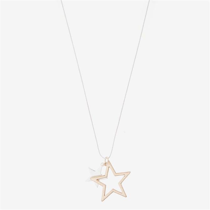 Mint Velvet Star Mix Pendant Necklace