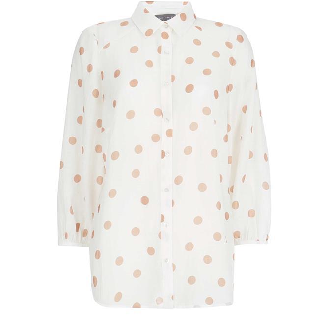 Mint Velvet Spot Print Puff Sleeve Shirt