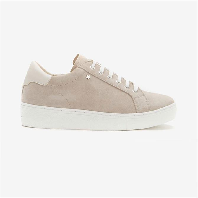 Mint Velvet Allie Mink Grey Suede Trainers