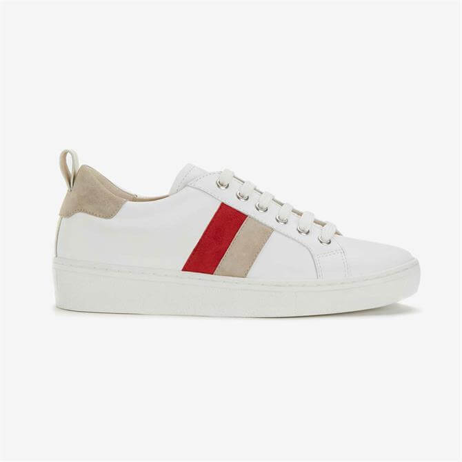 Mint Velvet Allie White and Red Trainers White