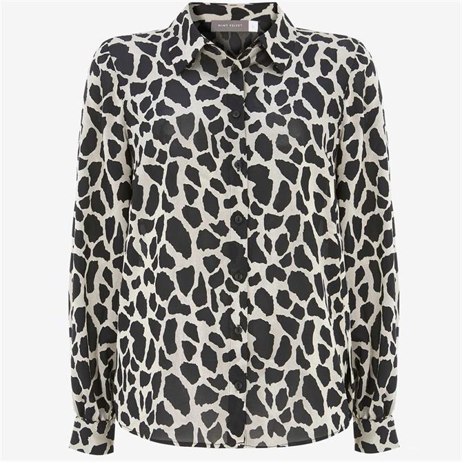 Mint Velvet Animal Burnout Shirt