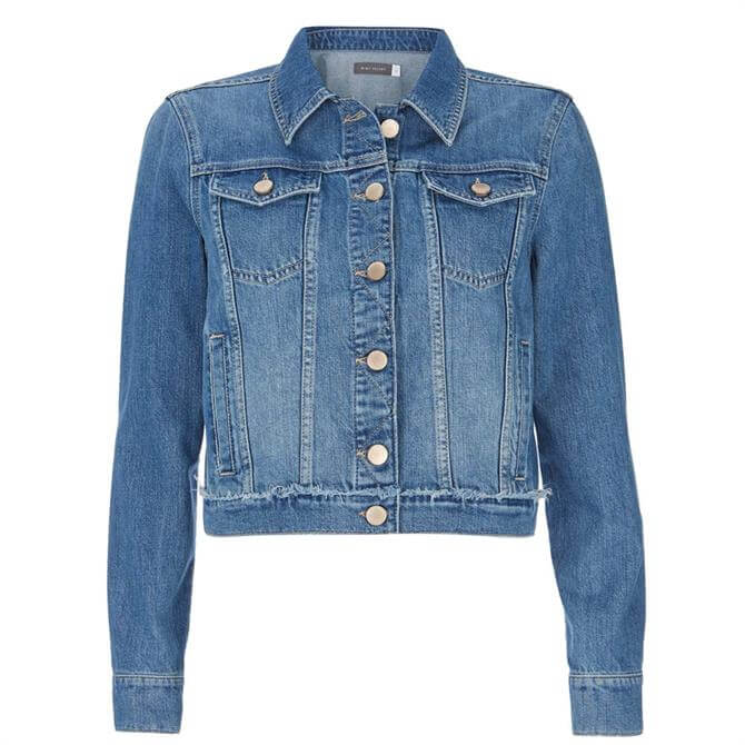 Mint Velvet Authentic Indigo Denim Jacket Blue