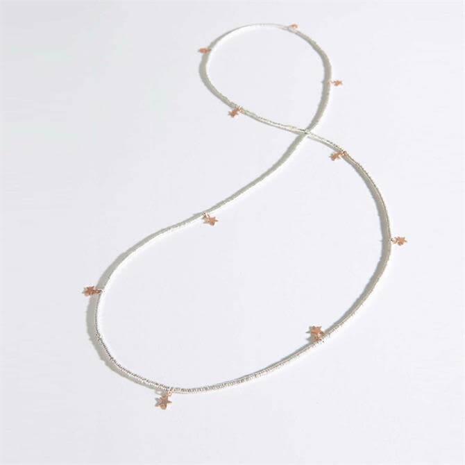 Mint Velvet Beaded Star Necklace