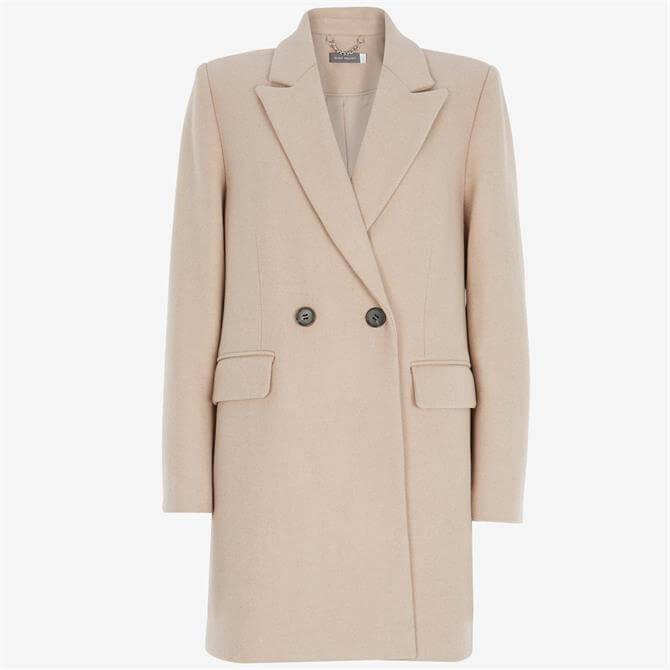 Mint Velvet Beige Double Breasted Coat