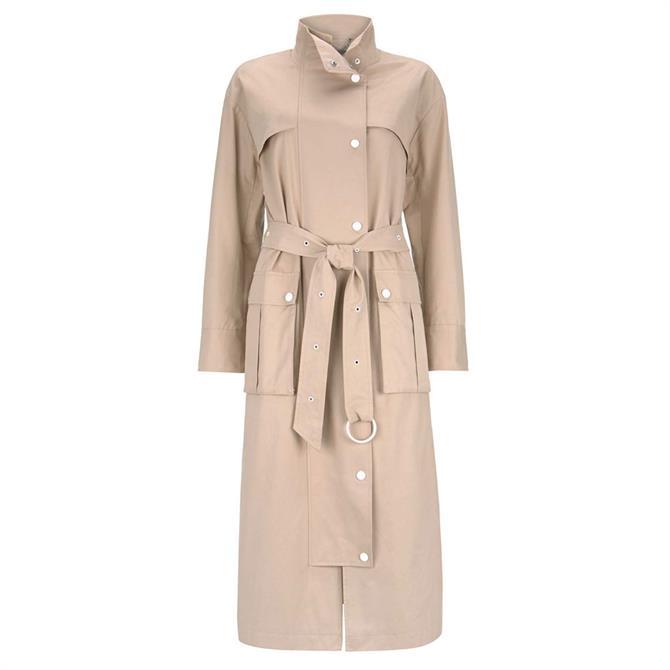 Mint Velvet Beige Long Belted Trench Coat