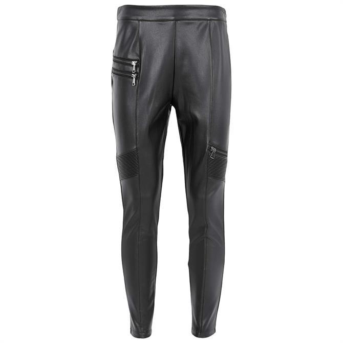 Mint Velvet Black Faux Leather Treggings