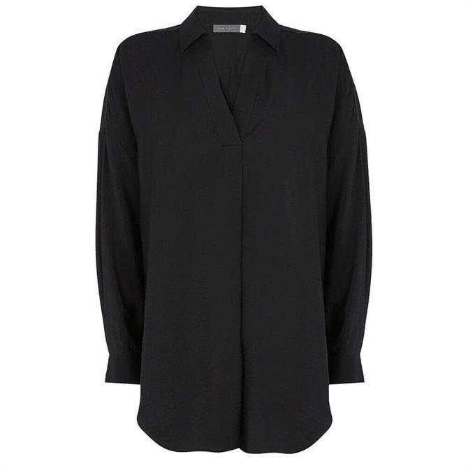 Mint Velvet Black Oversized Shirt