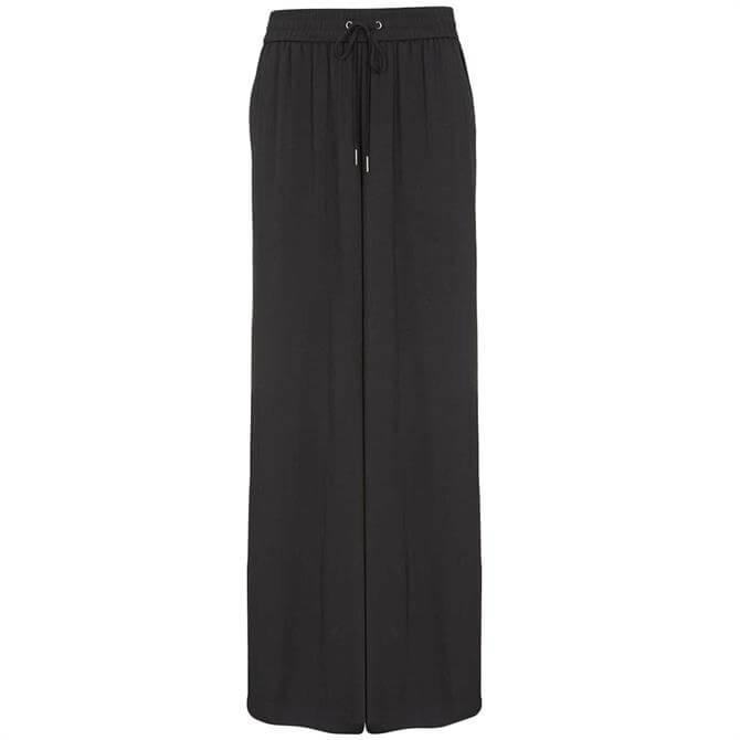 Mint Velvet Black Palazzo Wide Leg Trouser